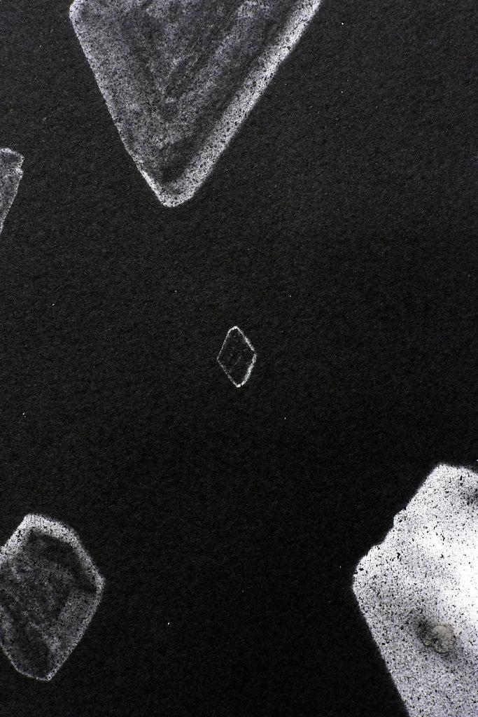 Crystal photogram (detail), 2016.